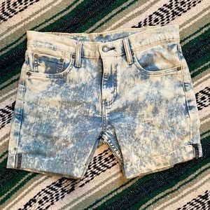 Levi's Acid Wash/ Bleached Shorts